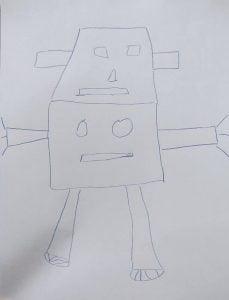 robot adam çizme